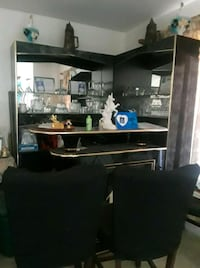 black and gray Bar with glass cups all for $200  Patterson, 95363