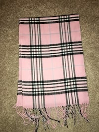 Pink plaid scarf Lincoln, 02865