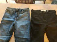Ladies size 3 jeans both for 15$