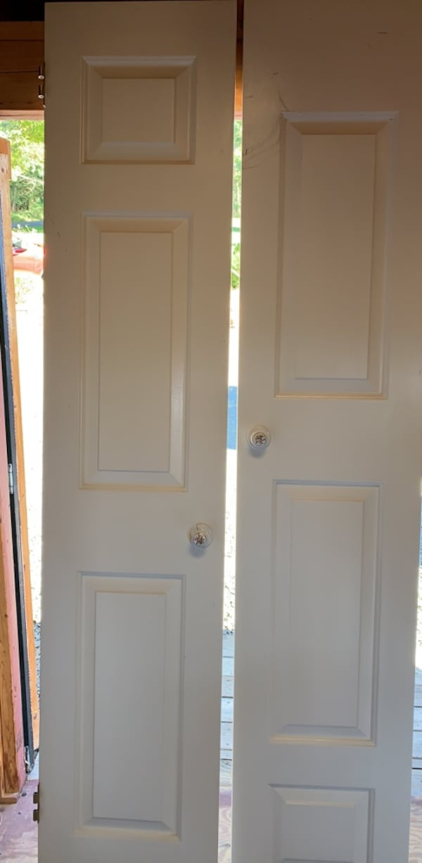 Double closet doors- both for price with hinges 0