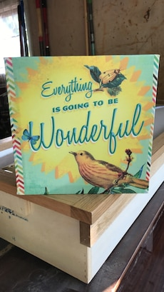 Everything is going to be Wonderful frame