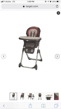 baby's black and gray Graco high chair Hialeah, 33010