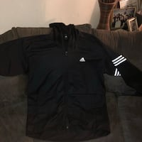 black and white Adidas zip-up jacket Fairfield, 94533