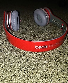 red Beats by Dr. Dre wireless headphones