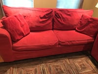 red fabric 2-seat sofa Falls Church, 22043