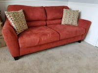 Sofabed! Rustic Orange Fabric 2-seat sofabed Bowie, 20721