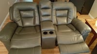 two gray leather home theater sofa chairs Pitt Meadows, V3Y 2V6