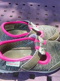 pair of pink-and-white sandals McLeansville, 27301