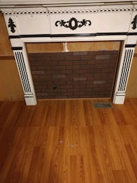 Solid wood fireplace mantel
