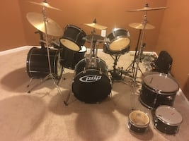 Drum set multiple pieces