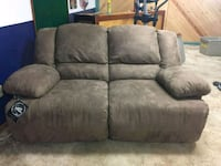gray suede 3-seat recliner sofa Denver, 80236