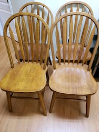 4 pcs wooden chair Markham, L3T 1T1