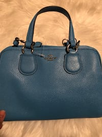 women's blue leather Michael Kors tote bag Louisville, 40245
