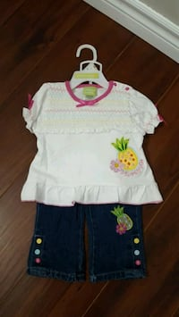 Girl's Two Piece Set. Available Size: 12M