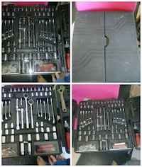 assorted tool set in case