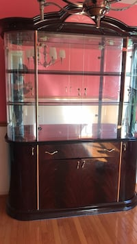 black metal framed glass top TV stand Manassas Park, 20111