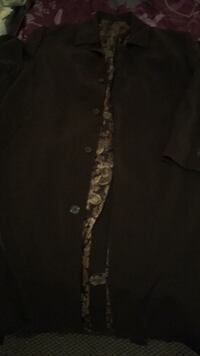 black and brown floral button-up shirt Brentwood, 11717