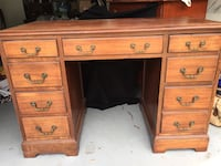 brown wooden double pedestal desk Potomac, 20854