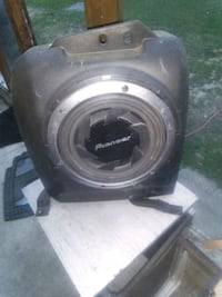 """10"""" pioneer sub with trunk box compact obo"""