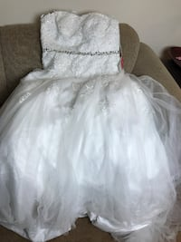 Ball-Gown Sweetheart Chapel Train Tulle Lace Wedding Dress With Beading Sequins ALEXANDRIA
