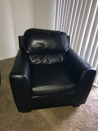 black leather sofa chair with ottoman Silver Spring, 20904