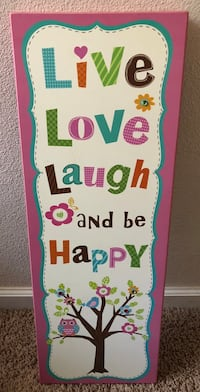 Large Live Laugh Love with Owl Wooden Wall Art / Home Decor (PRICE IS FIRM)  Visalia, 93292