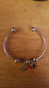 Sterling silver bangle with charms  Hyattsville, 20784