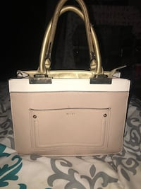 Aldo beige,white and gold purse/handbag/satchel