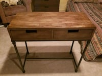 brown wooden double-drawer desk Calgary, T3E 1Y6