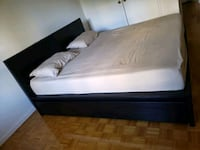 IKEA MALM KING BED WITH 4 DRAWERS & SLEEP COUNTRY  MATRESS Toronto