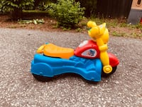 Toy Motorcycle - walker converts to ride-on toy