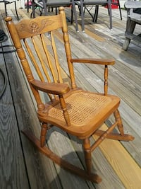 Rare child size cane rocking chair