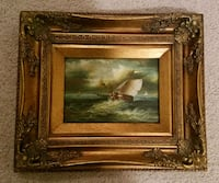 Ornate Framed Ship Painting Lorton, 22079