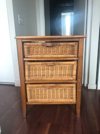Wicker and wooden drawer unit Toronto, M5V 3G9