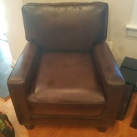 black leather padded sofa chair Fairfax, 22033