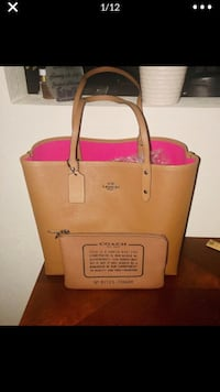 Authentic Coach (reversible) tote and makeup bag  Stockton, 95209