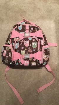 Brown and pink backpack with owls Elk Grove Village, 60007