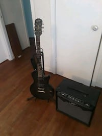 Guitar and amp (needs power cord)