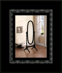 Black swivel oval mirror Alexandria, 22305