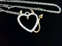 Sterling Silver Heart Devil Devils Tail Necklace Boxford, 01921