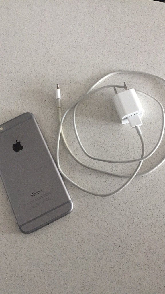space gray iPhone 6 with charger for sale  Montreal