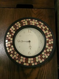 round black and brown analog wall clock Clarksville, 21029