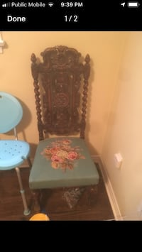 Hand carved needle point chair Toronto, M1N 2Z5