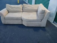 gray fabric 2-seat sofa Glen Burnie, 21061