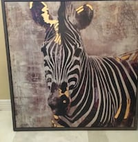 3 feet by 3 feet Black, white, griege NEW zebra painting Clearwater, 33767