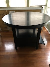 Cute Black Wood Dining Table w/Chairs Woodbridge, 22192