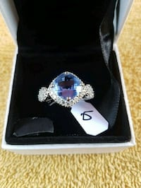 Gorgeous  sterling  silver  sapphire ring   Whitby, L1N 8X2