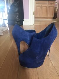 Blue Suede Booties 475 km