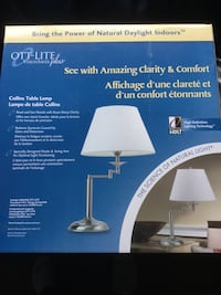 Ott-Lite table lamp, brand new in box Mississauga, L5L 1N2