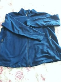 blue zip-up jacket size. L/G Lachute, J8H